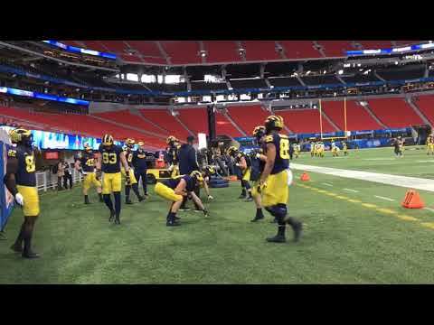 Sights and sounds from Michigan's Wednesday Peach Bowl practice