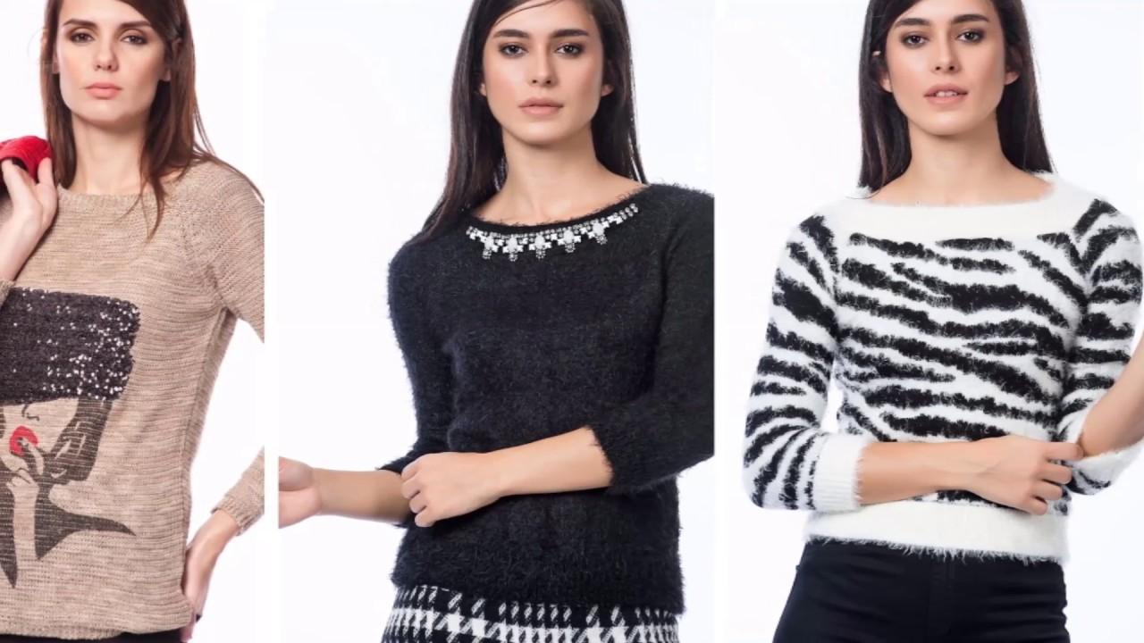 6206f16727885 مجموعة ملابس شتوية نسائية   موضة شتاء 2018 - YouTube