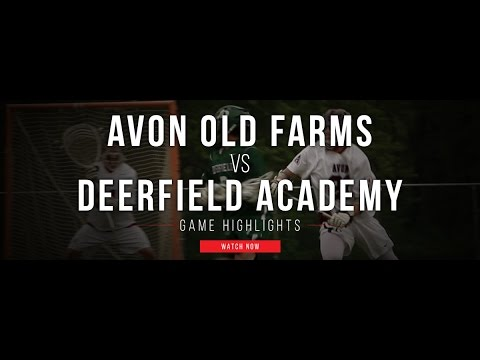 Avon Old Farms (CT) vs Deerfield Academy (MA) | 2017 High School Highlights