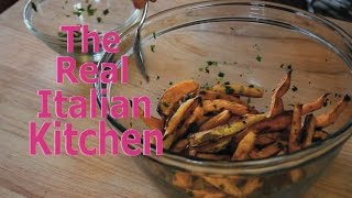 Roasted Sweet Potato Fries With Italian Seasoning - Real Italian Kitchen