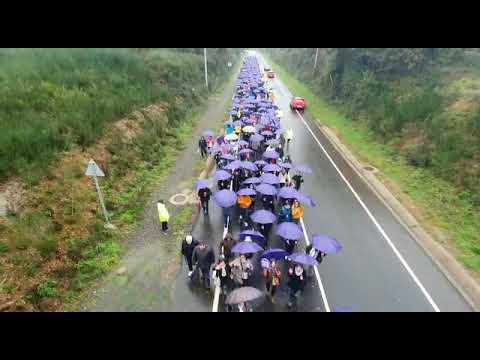 La VII marcha 'Camiño ao respecto' llega al Obradoiro