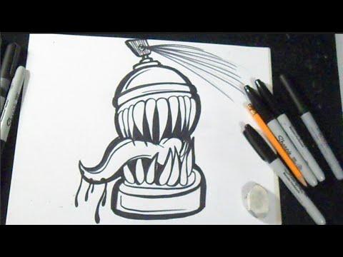 как рисовать баллончик граффити