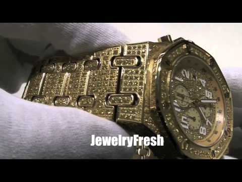 Canary Lemonade VVS Flawless Lab Made Iced Out Watch AP Style