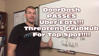 DoorDash OVERTAKES Uber Eats & Threatens GrubHub For Top Spot!!!