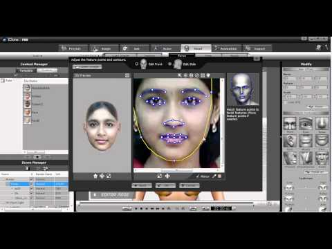 iClone tutorial Create face by image