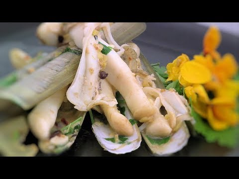 Chinese Sichuan Razor Clam Recipe (Asian Style Cooking Recipe)