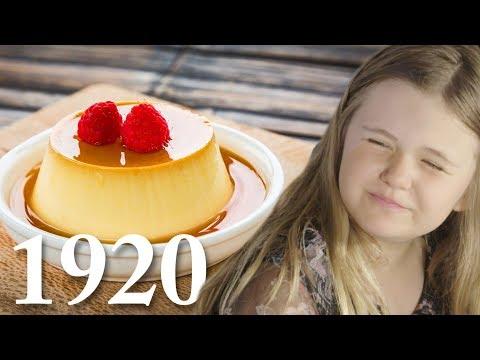Barn testar svenska efterrätter från 1900-talet