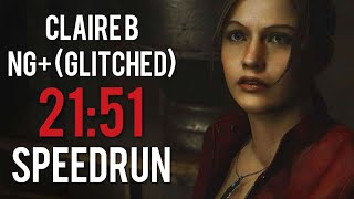 Resident Evil 2 Remake - Claire B NG+ (Glitched) - Speedrun [21:51] (WORLD RECORD)