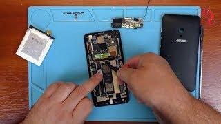 ASUS ZenFone 5 A501CG //ЗАМЕНА батареи и кнопок