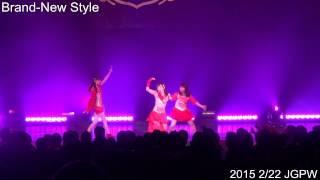 """2015年2月22日に六本木のブルーシアターで開催されたJGPW(J-GIRL POP WAVE)でのパフォーマンス。曲は3rdシングル """" Brand-New Style """"。"""