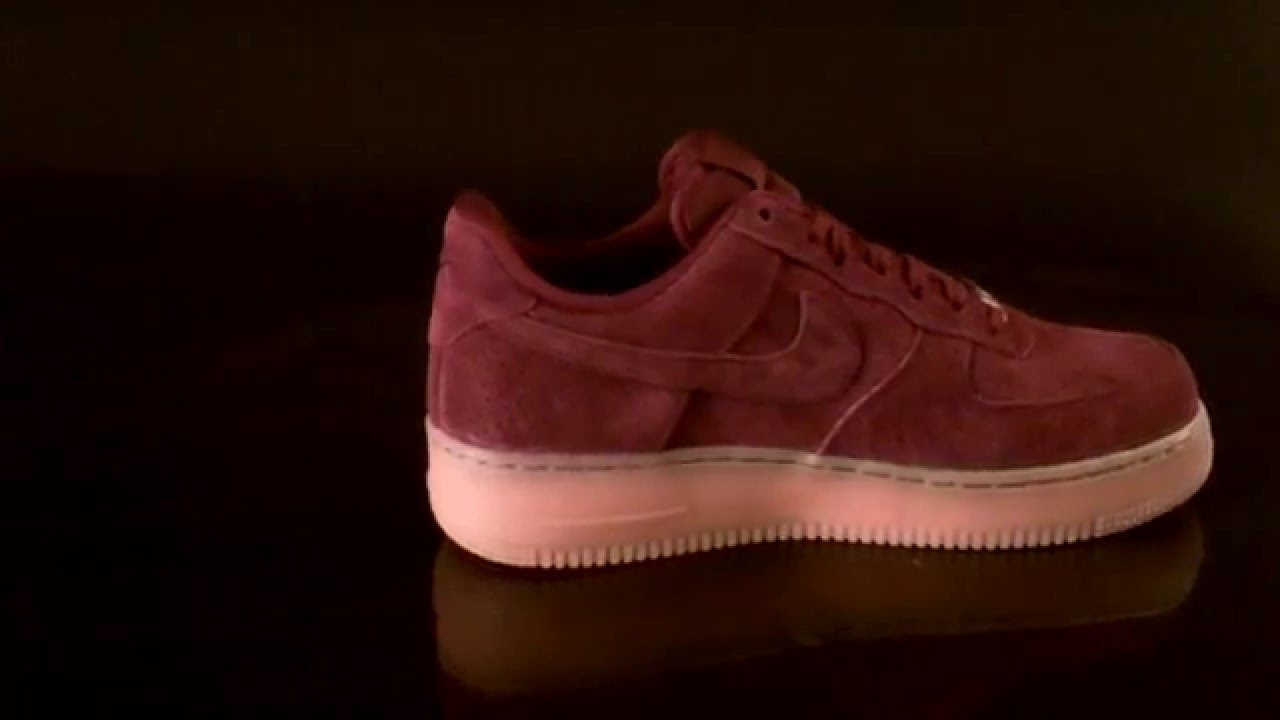 f32a3be50674 Nike Air Force 1 07 Suede Deep Garnet Sneaker 749263 - YouTube