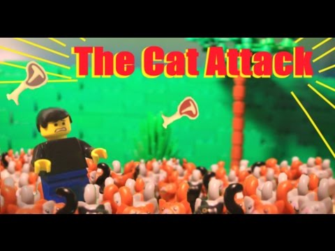 the cat attack!!  (lego animation)