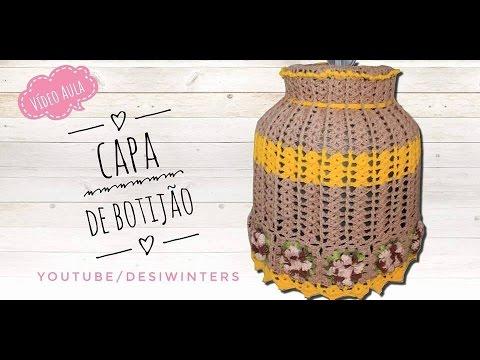 Capa de Botijão (aberta) de #crochê - Artes da Desi
