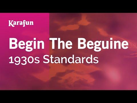 Karaoke Begin The Beguine - 1930s Standards * music
