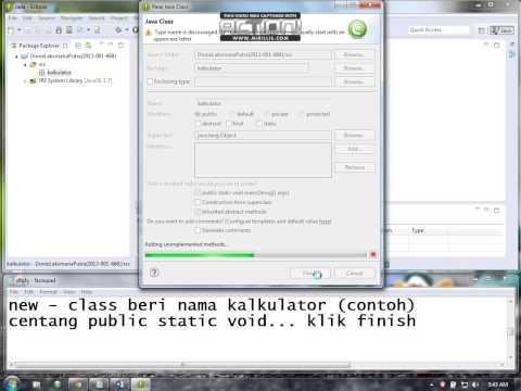 Membuat Aplikasi Java (Kalkulator) Sederhana Menggunakan ECLIPSE