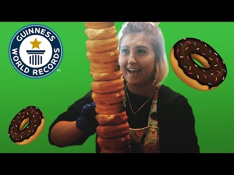 Tallest Stack of Doughnuts in One Minute – Guinness World Records
