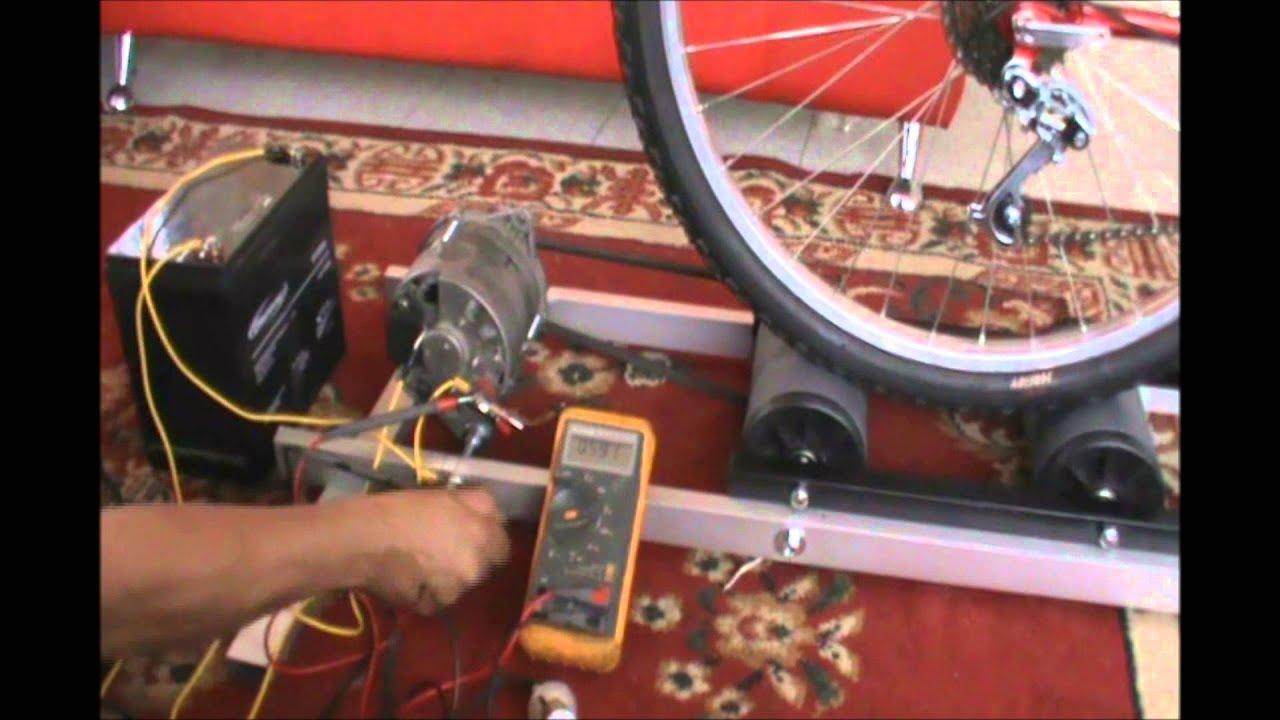 Generador electricidad con una bicicleta youtube - Generador de luz ...