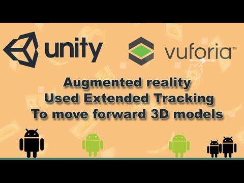 tutorial  Unity and vuforia Augmented reality  model 3d move forward
