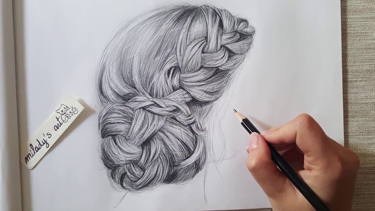 Tutorial : Drawing Realistic Hair Bun
