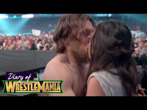 Brie and Nikki's ELECTRIC ringside REACTION during Daniel Bryan's match! - Diary of WrestleMania