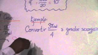 CONVERSION DE GRADOS SEXAGESIMALES, CENTESIMAL Y RADIANES 4