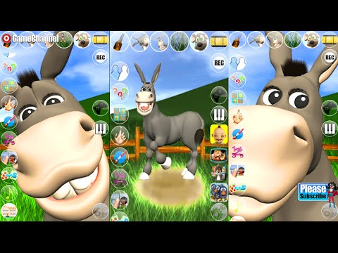 Talking Donald Donkey Android İos  Free Game GAMEPLAY VİDEO