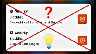 block call ki notification kaise band kare | how to disable blocked calls notification | hide block