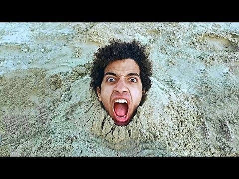 اتدفنت فى الرمل 6 ساعات فى عز البرد واصحابى قعدو يعذبونى