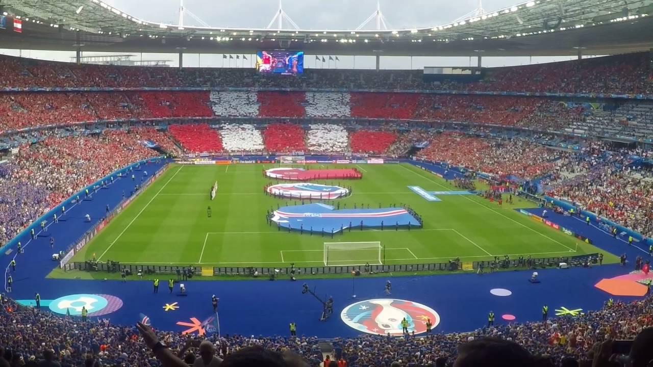 Sland sterreich 2 1 uefa euro 2016 stade de france 60fps sta - Superficie stade de france ...