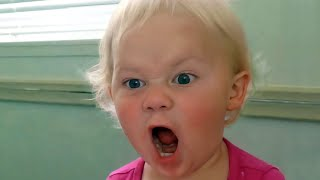 Super Funny Looking Babies Angry Reactions -  Funniest Home Videos
