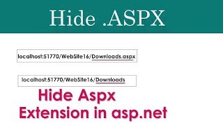 how to hide aspx extension in asp.net c#