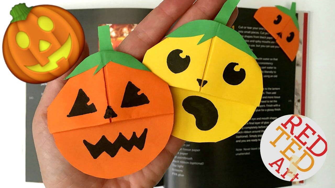 Easy Pumpkin Emoji Bookmark