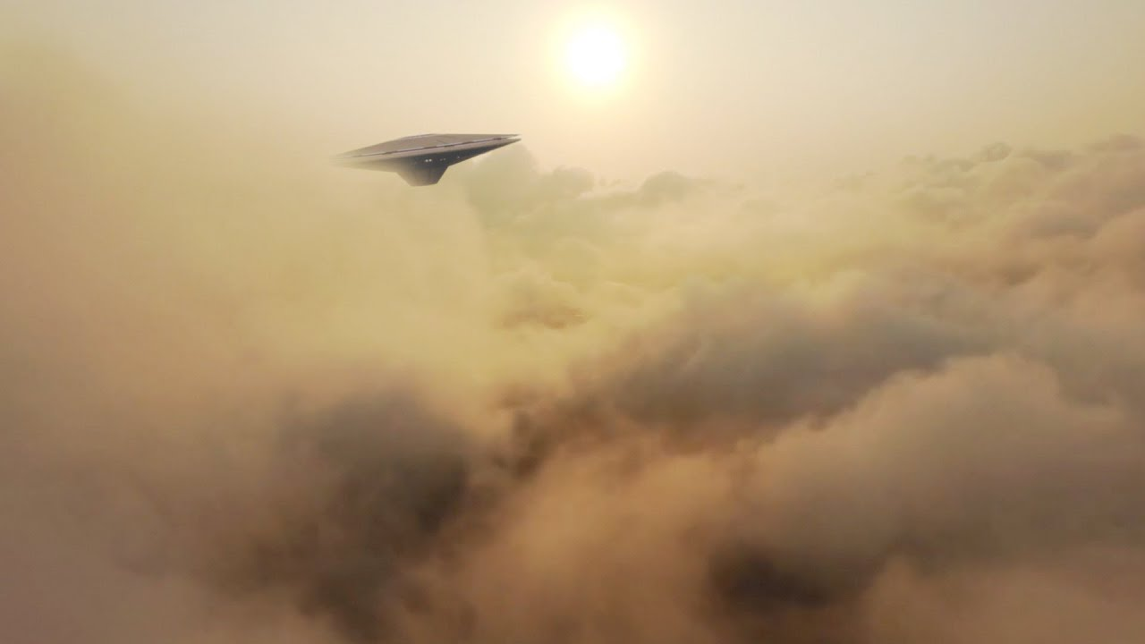 Strange UFO Spotted in the Clouds by Drone (CGI)