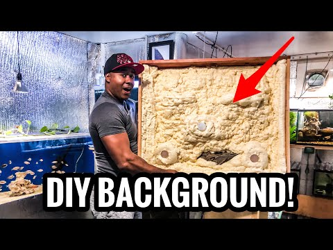 How to MAKE a DIY 3D BACKGROUND for your AQUARIUM - Part 1