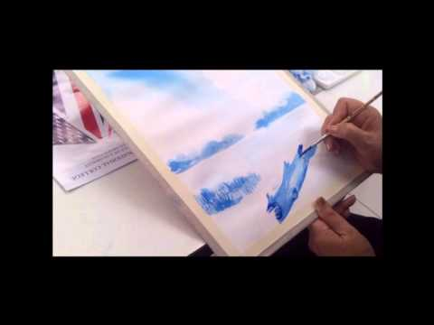 สีน้ำทิวทัศน์  โดยครูสุพิมาน