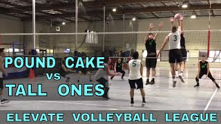 Pound Cake vs Tall Ones - EVL #3, Pool Play - Match 2 (Elevate Volleyball League 2018)