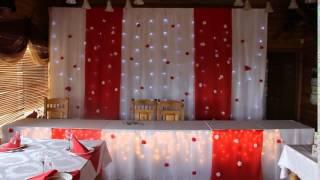 Красно-белое свадебное оформление. Империя праздника Саратов.