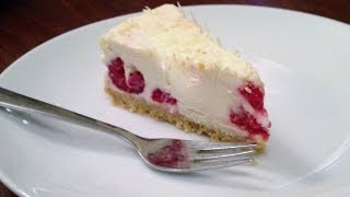 Easy White Chocolate & Raspberry Cheesecake Recipe (no Bake)
