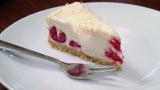 Easy White Chocolate &amp Raspberry Cheesecake Recipe (no bake)
