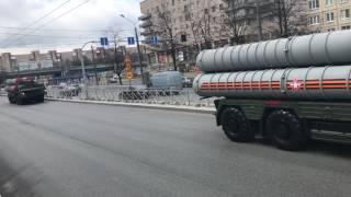 9 мая 2017. Колонна военной техники после парада. Пискаревский проспект, Санкт-Петербург