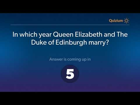 In which year Queen Elizabeth and The Duke of Edinburgh marry?   Queen Elizabeth Quiz