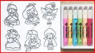 Đồ chơi làm móc khóa trang trí, vẽ và tô màu công chúa Disney - Toys for kids (Chim Xinh)