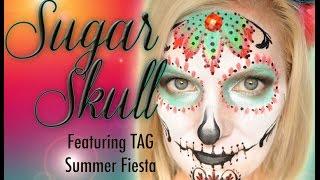 Sugar Skull (Día de los Muertos) Makeup Face Painting Tutorial