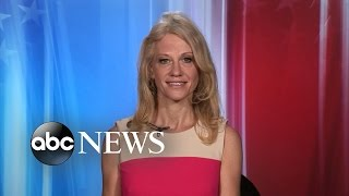 "Conway discusses on ""gma"" her battle with hillary clinton's aides at a harvard forum and potential conflicts of interest donald trump now faces as president..."