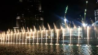 UAE National Day 2014 Water Show @ Dubai Fountain