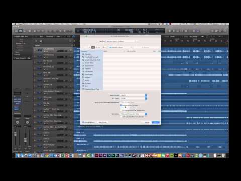How to Export Tracks from Logic Pro X as a Project