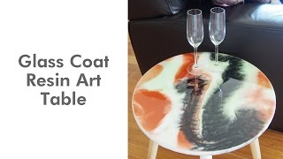 GLASSCOAT Resin Art Table | GLASSCOAT Presentation
