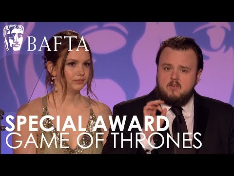 John Bradley & Hannah Murray Accept Special Award for Game of Thrones  BAFTA TV Craft Awards 2018