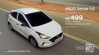 HB20 Sense com parcelas de R$ 499 para 2021 | Compre sem sair de casa | Hyundai