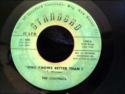 Chestnuts - Who Knows Better Than I - Beautiful, Rare New Haven Doo Wop Ballad